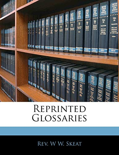 Reprinted Glossaries (1145805698) by W W. Skeat
