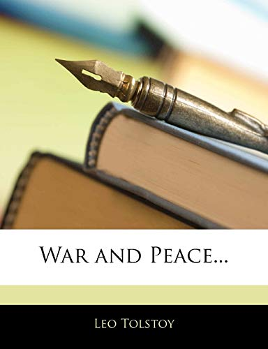 9781146104555: War and Peace...