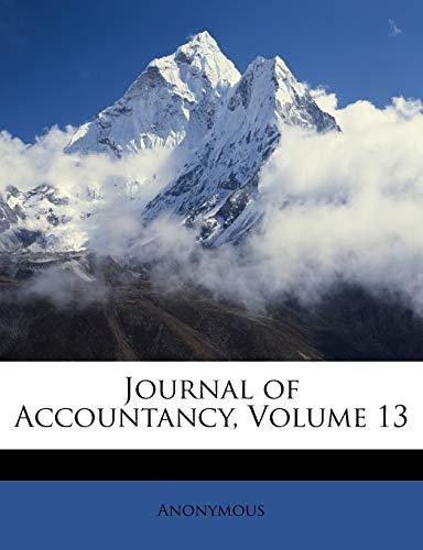 9781146616676: Journal of Accountancy, Volume 13