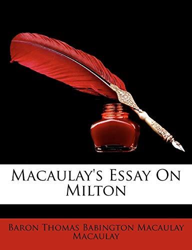 9781146799904: Macaulay's Essay on Milton