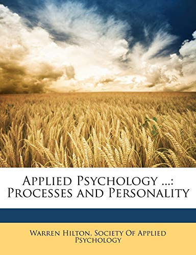 9781147192490: Applied Psychology ...: Processes and Personality