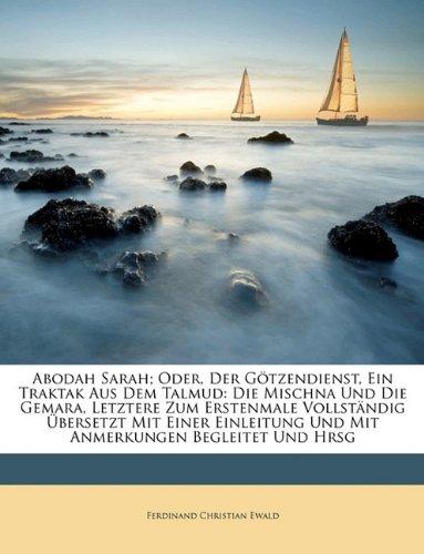 9781148147932: Abodah Sarah oder der Götzendienst, Ein Traktak aus dem Talmud. Zweite Ausgabe.