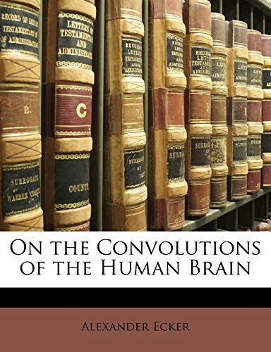 9781148364483: On the Convolutions of the Human Brain