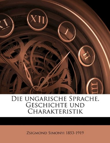 9781149339107: Ungarische Sprache. Geschichte Und Charakteristik