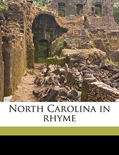 9781149481967: North Carolina in rhyme
