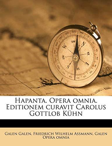 9781149848777: Hapanta. Opera omnia. Editionem curavit Carolus Gottlob Kühn Volume 2 (Greek Edition)