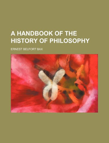 9781150199806: A handbook of the history of philosophy