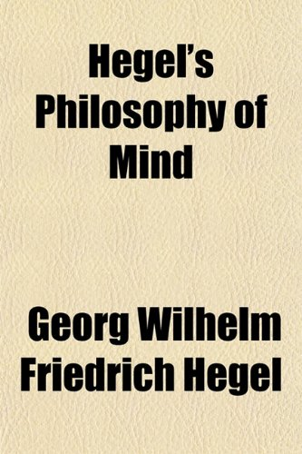 9781150261565: Hegel's Philosophy of Mind