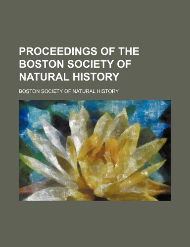 9781150280832: Proceedings of the Boston Society of Natural History (Volume 29 (1901))