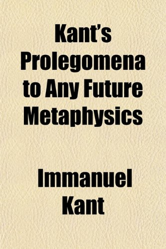 prolegomena to any future metaphysics cambridge pdf
