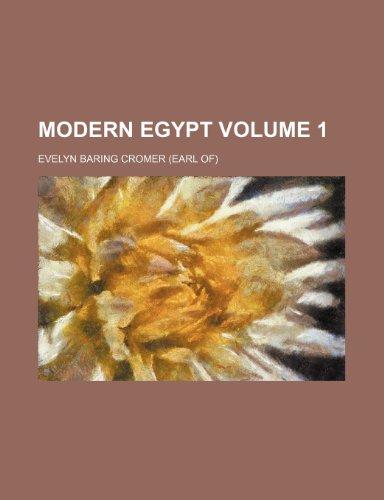 9781150687419: Modern Egypt Volume 1