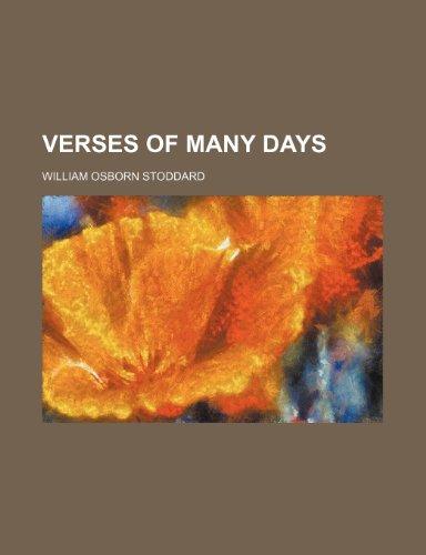 9781150791697: Verses of Many Days