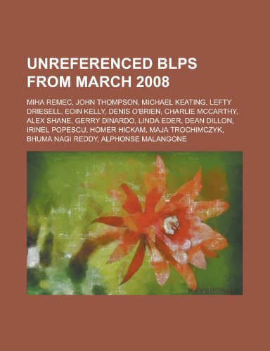 Unreferenced Blps from March 2008: Miha Remec,