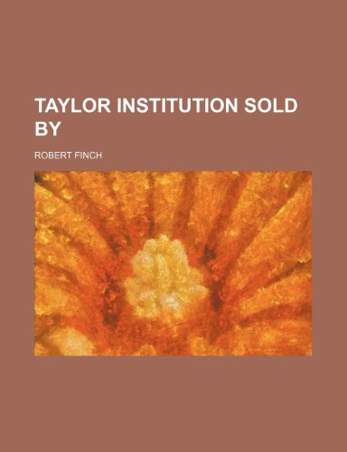 Taylor Institution Sold By (1150992131) by Robert Finch
