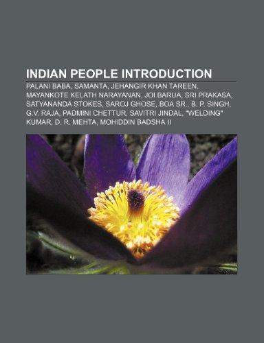 Indian People Introduction: Palani Baba, Samanta, Jehangir: Source Wikipedia