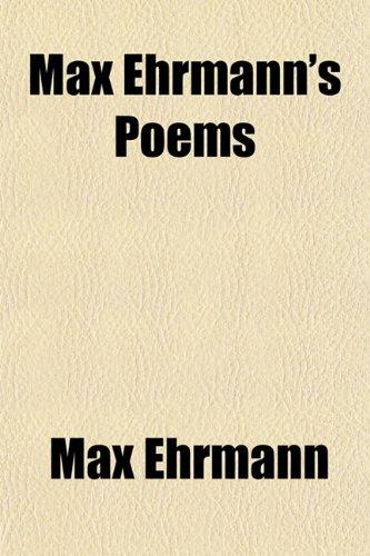 9781151137975: Max Ehrmann's Poems