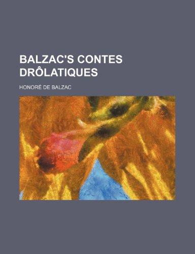 9781151170668: Balzac's Contes drôlatiques