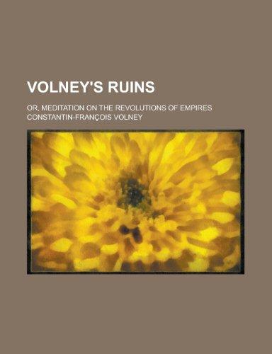 9781151255686: Volney's Ruins; Or, Meditation on the Revolutions of Empires
