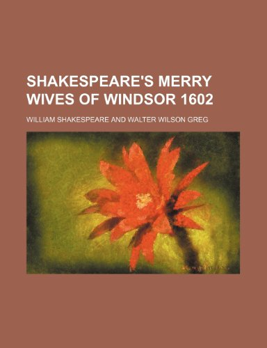 9781151366344: Shakespeare's Merry Wives of Windsor 1602