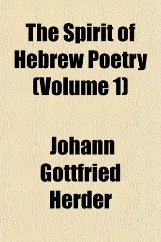 9781151445681: The Spirit of Hebrew Poetry (Volume 1)