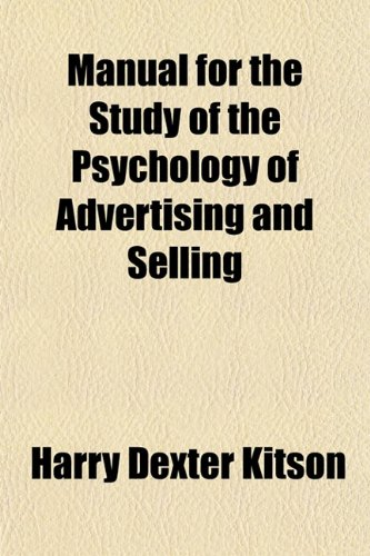 9781151493453: Manual for the Study of the Psychology of Advertising and Selling