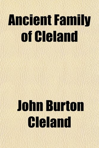 9781151735300: Ancient Family of Cleland