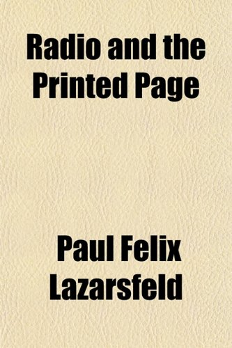 9781151806062: Radio and the Printed Page