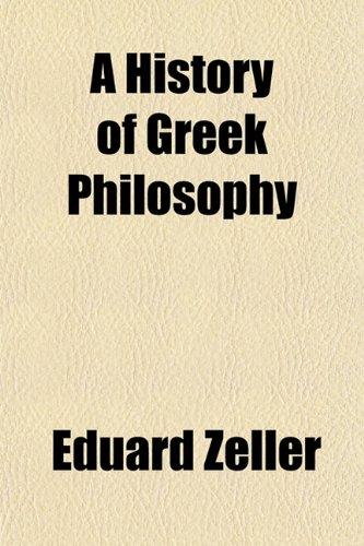 9781151849304: A History of Greek Philosophy