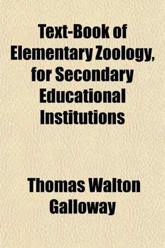 9781152050204: Text-Book of Elementary Zoology, for Secondary Educational Institutions