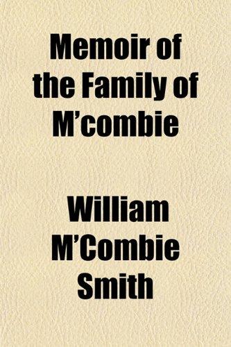 9781152178540: Memoir of the Family of M'combie