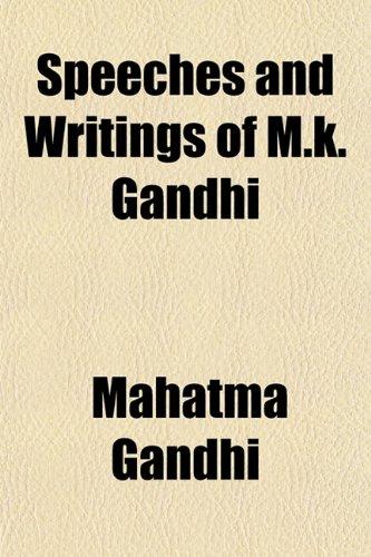 Speeches and Writings of M.k. Gandhi (115220906X) by Mahatma Gandhi