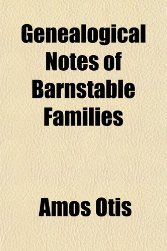 9781152217102: Genealogical Notes of Barnstable Families