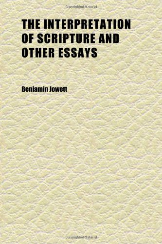 9781152340671: The Interpretation of Scripture and Other Essays