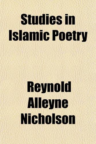 Studies in Islamic Poetry (1152483714) by Nicholson, Reynold Alleyne