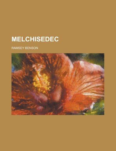 9781152545847: Melchisedec