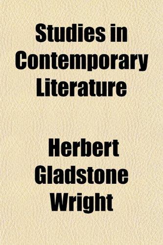 9781152618886: Studies in Contemporary Literature