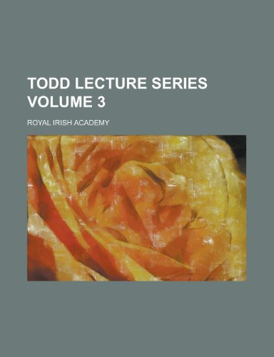 9781152683785: Todd Lecture Series (Volume 12)