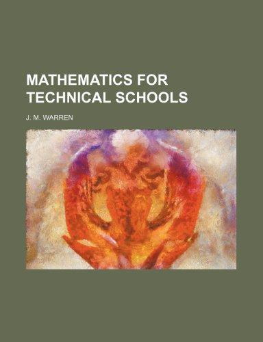 9781153020886: Mathematics for technical schools