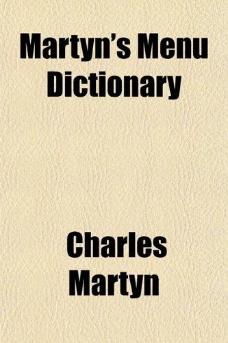 9781153021173: Martyn's Menu Dictionary