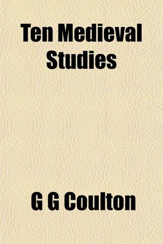 9781153175791: Ten Medieval Studies