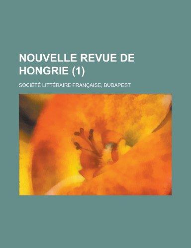 9781153270366: Nouvelle Revue de Hongrie (1)