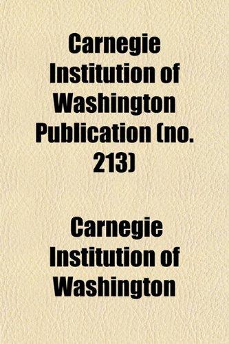 9781153317450: Carnegie Institution of Washington publication Volume 279