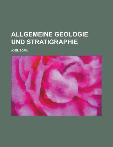 9781153463591: Allgemeine Geologie Und Stratigraphie
