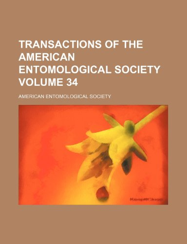9781153564809: Transactions of the American Entomological Society Volume 34