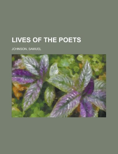 9781153638227: Lives of the Poets, Volume 1