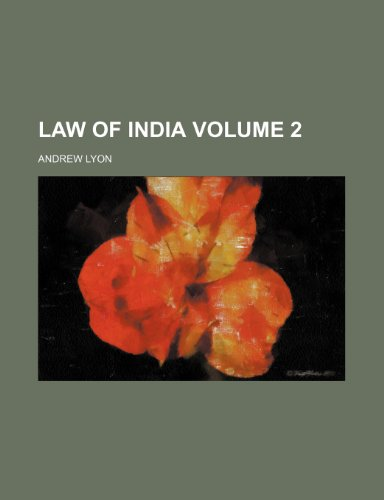 9781154187243: Law of India Volume 2