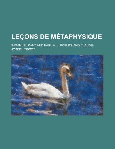 Lecons de Metaphysique (9781154637717) by Service, National Research Council; Kant, Immanuel