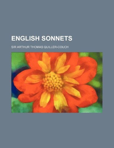 English sonnets (1154695794) by Quiller-Couch, Sir Arthur Thomas