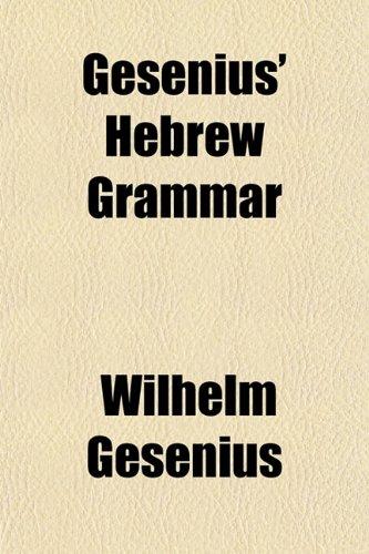 9781154716306: Gesenius' Hebrew Grammar