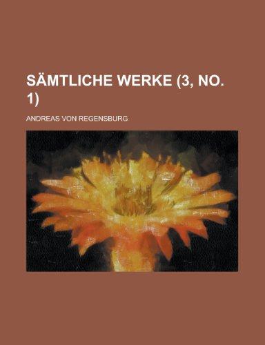 Samtliche Werke (3, No. 1 ) (9781154783186) by Frances Burney; Andreas Von Regensburg